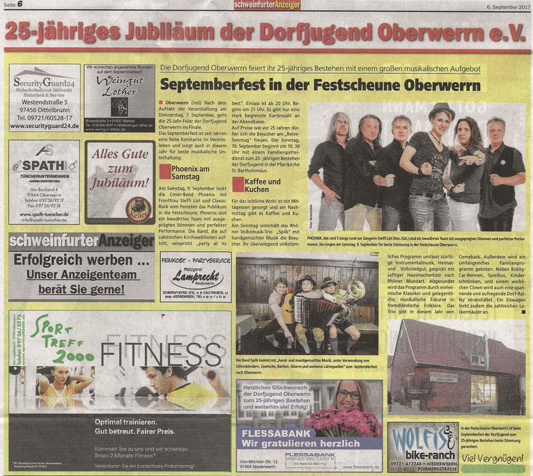 06.09.2017 Schweinfurter Anzeiger