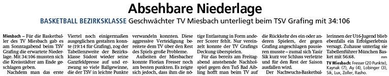 Bericht im Miesbacher Merkur am 26.2.2019 - Zum Vergrößern klicken