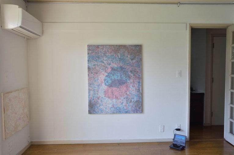 石井友人「Sub image (hole)」, 116.5x91cm , oil on canvas, 2015