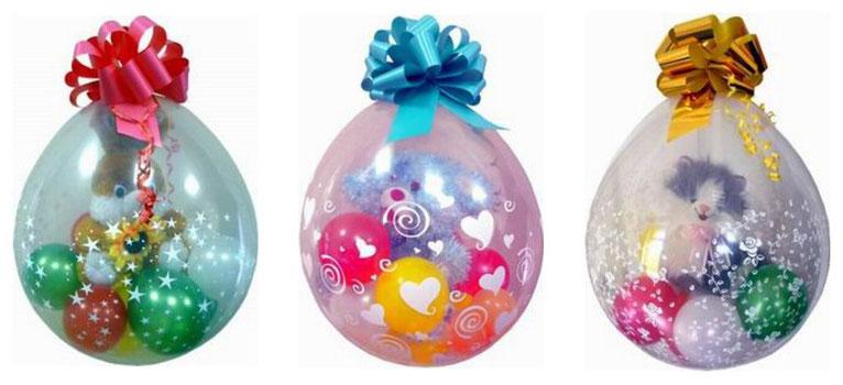 примеры подарков, упакованных в шар упаковщик