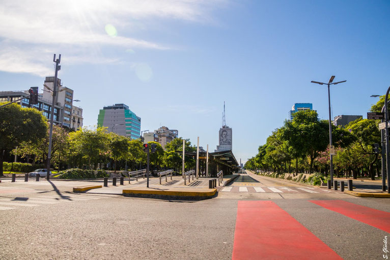 Coronakrise: Leere Straßen in Buenos Aires
