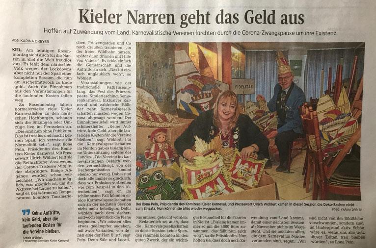Kieler Nachrichten vom 15.02.2021 / Seite 19