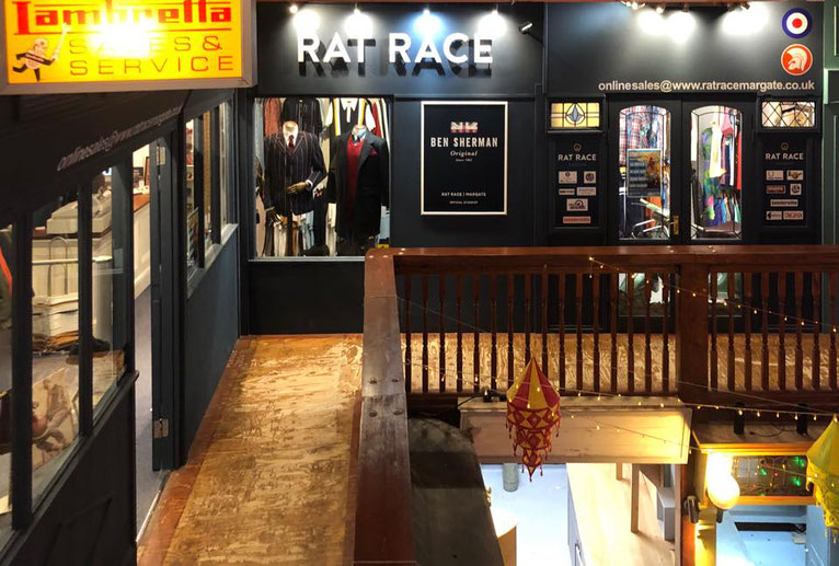 Rat Race Margate, set up nicely in the Old Kent Market on the seafront. Image courtesy of Rat Race Margate
