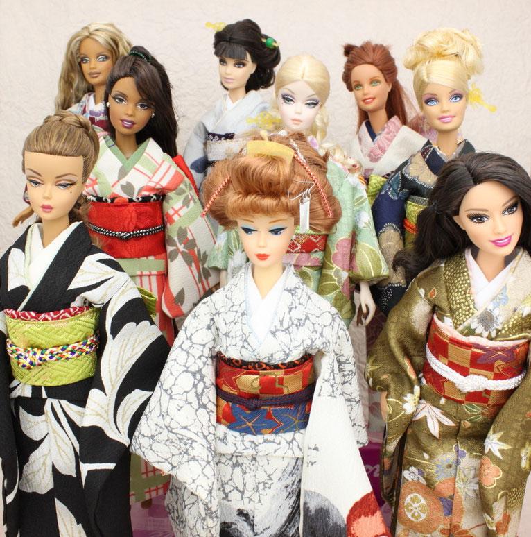 バービー 着物,Barbie kimono,バービー 振袖