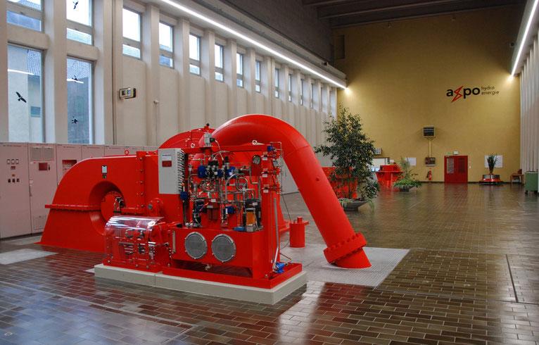 horizontalachsige Pelton-Turbine