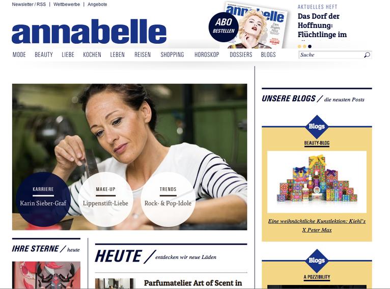 Annabelle Magazin, Medienbericht schlüsselbrett, Alu Designleiste, Design Award, genial einfach, multifunktional, Ordnungswunder, Designfilz, Garderobe, Küche, Bad