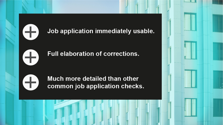 The WAMATI check gives you a job application which is immediately usable.