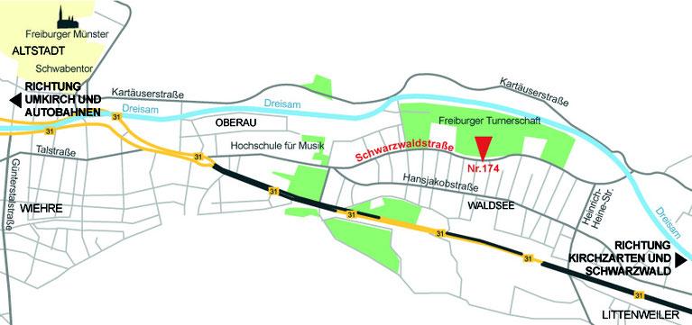 Für Routenplaner die Karte anklicken