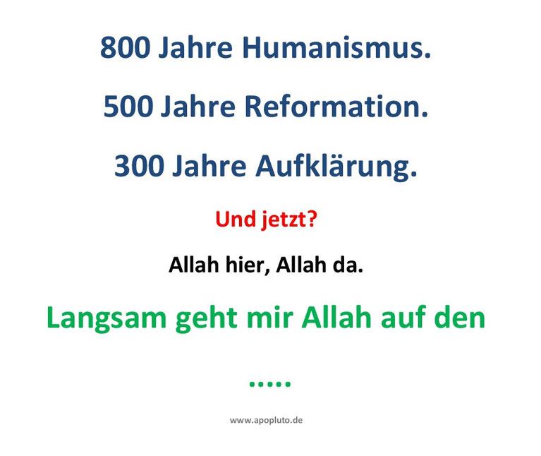 Allah hier, Allah da.