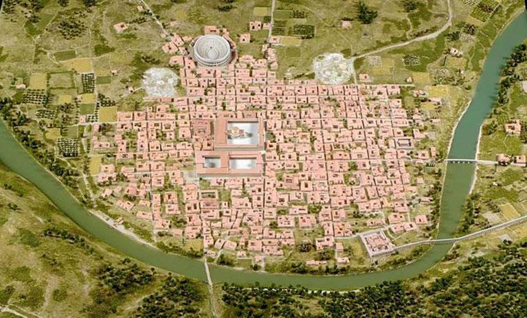 150- Maquette en relief de la ville du IIème siècle