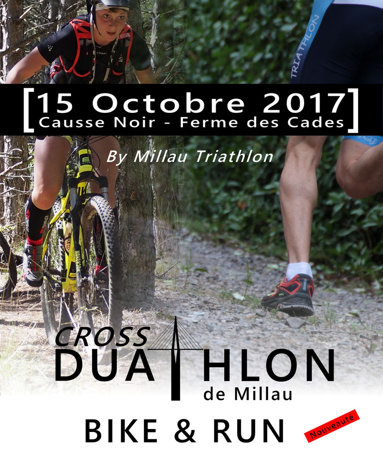 Cross duathlon  de millau 2017 / bike & run de millau - millau triathlon