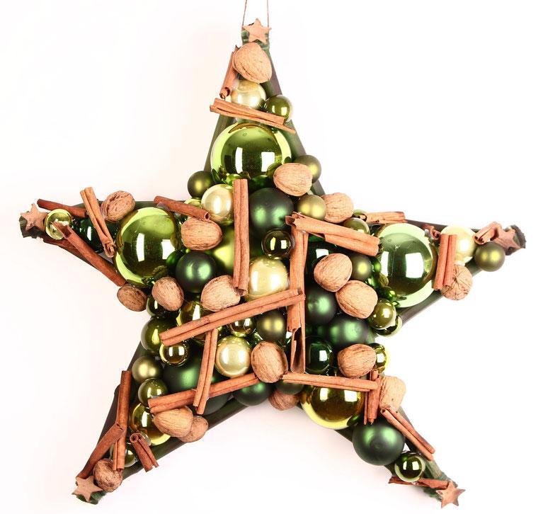 Stern Türkranz Glaskugeln Weihnachtsdeko stern handgemacht