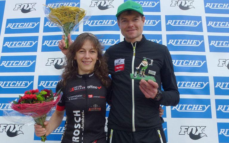 Strahlende Sieger: Paulina Wörz und Uwe Hardter ©Ritchey Challenge