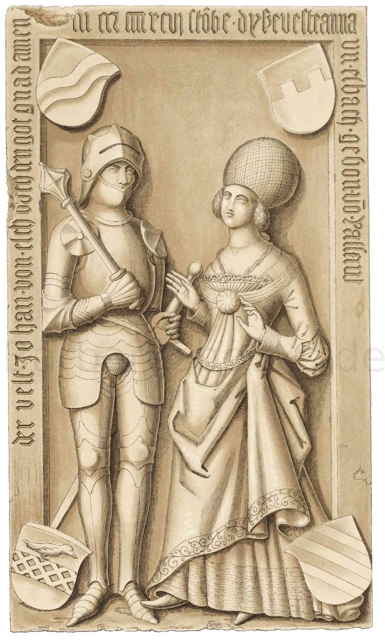 Johann von Eschbach und seine Gemahlin Anna von Pallant (gest. 1496).