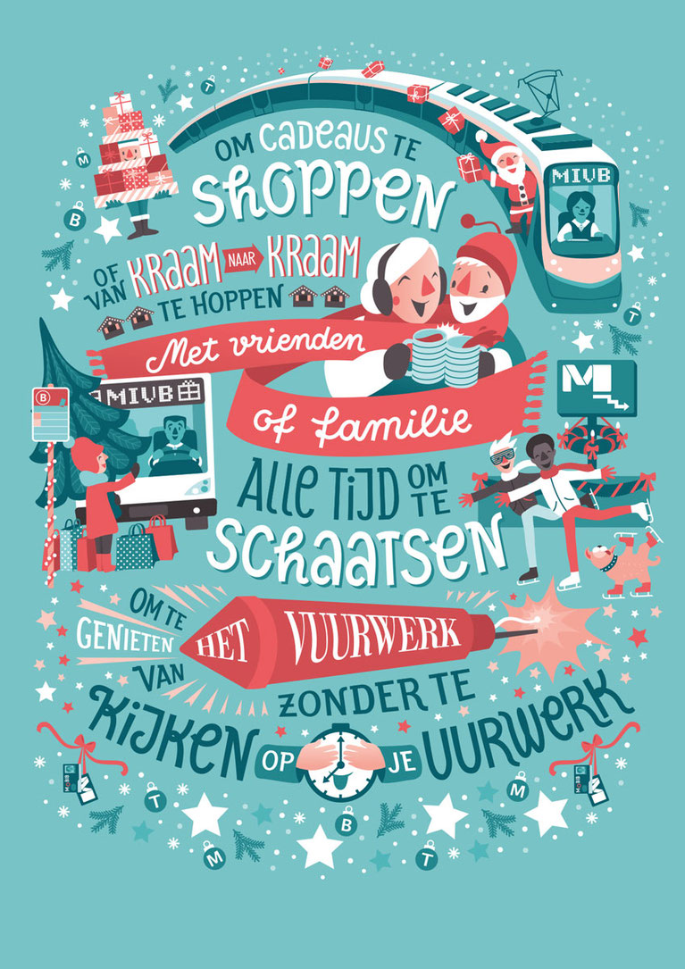 Illubelle, Julia Kerschbaumer, STIB-MIVB Christmas Campaign