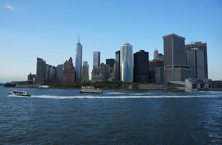 Mathieu Guillochon, photographe, rivages, couleurs, USA, New York City, Manhattan, skyline, ferry de Staten Island, gratte ciels
