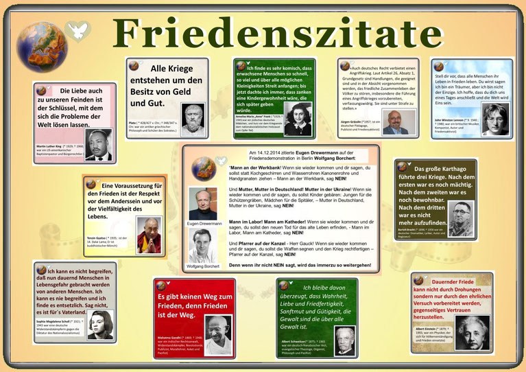 Collage Friedenszitate