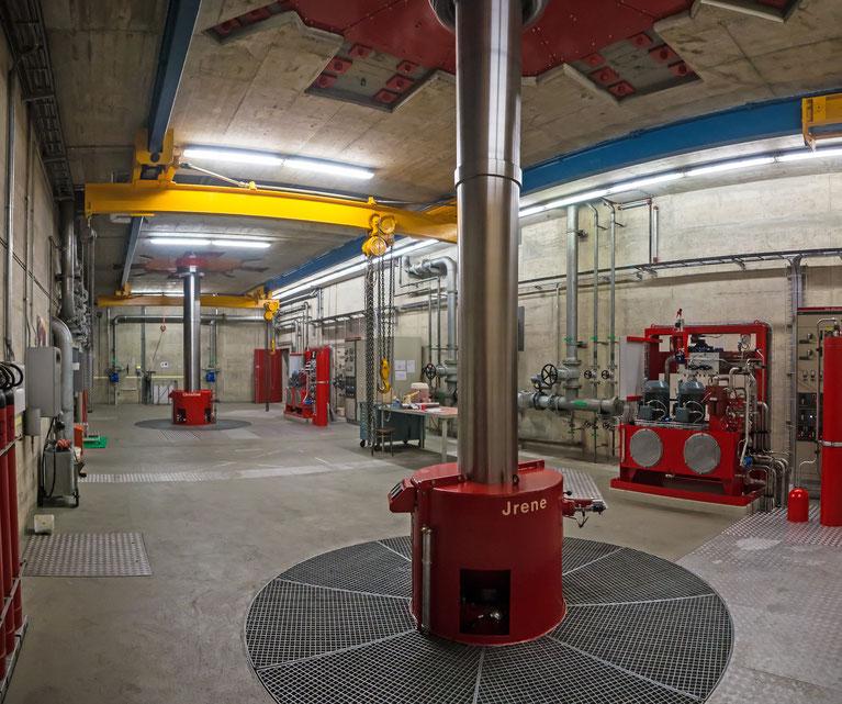 Zentrale mit zwei vertikalachsigen Francis-Turbinen