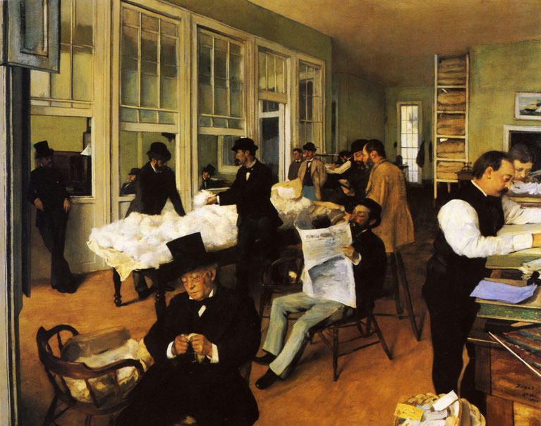 "Edgar Degas, ""Mercato del cotone a New Orleans"""