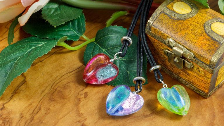 Herzanhänger Lagunenschmuck & Farbenpracht Schmuck aus