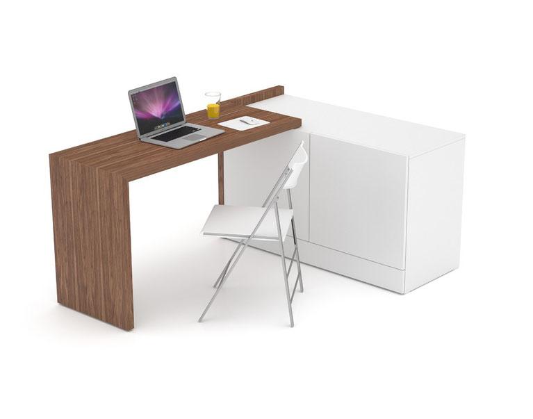 Schreibtisch multifunktionsm bel for Echtholz schreibtisch