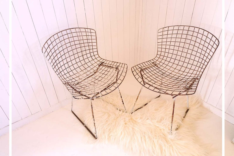 chaises Wire Bertoia Harry Bertoia Knoll Eames