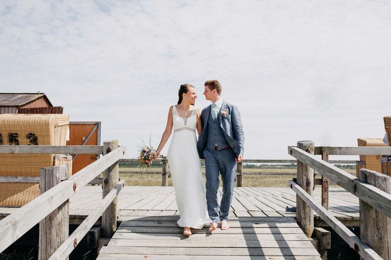 Heiraten am Strand an der Nordsee. Hochzeitsfotograf Zachen Fotografie aus Heide, Dithmarschen.