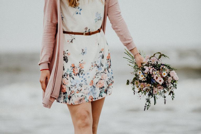 Brautstrauß, Verlobungsshooting, Fotograf Nordfriesland und Sylt