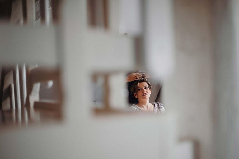 Ankleide der Braut auf dem Peterhof. Hochzeitsfotograf Alexander Zachen