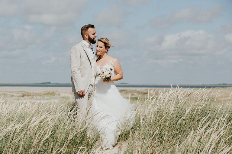 Hochzeitsfotograf in Nordfriesland, Sankt Peter Ording. Strandhochzeit an der Nordsee