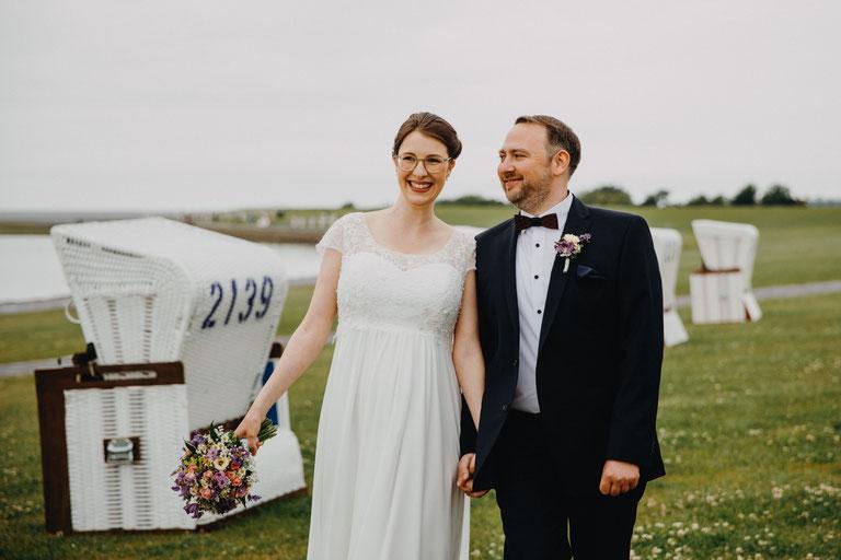 Hochzeitsfotos Deich
