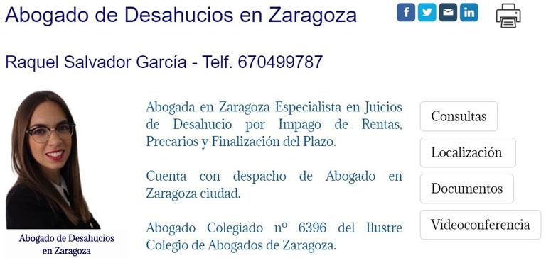 Abogado de Desahucios de Viviendas en Zaragoza