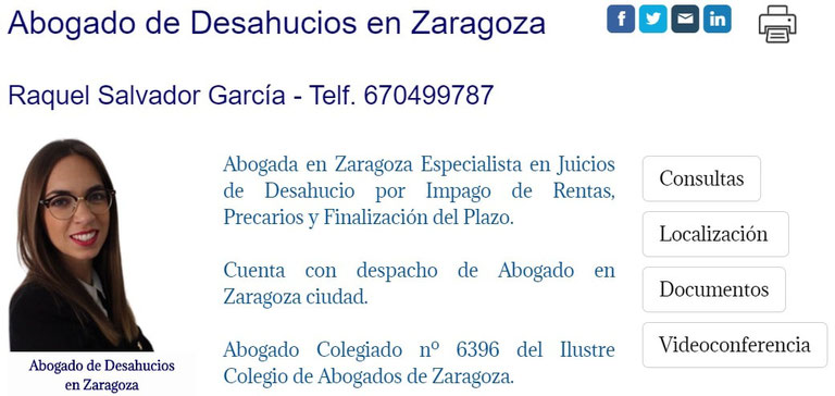 Abogado de Desahucios de Pisos en Zaragoza