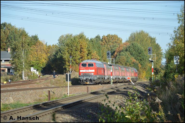 Das letzte Bild zeigt den Abzweig nach Hartmannsdorf (links im Bild)