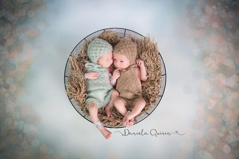 Newbornshooting - Teamblau im Doppelpack