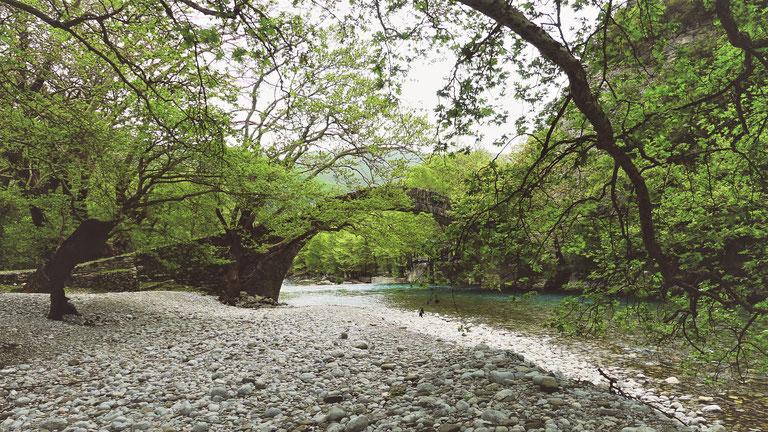 grece bigousteppes bikos gorge pont ottoman pierre rivière