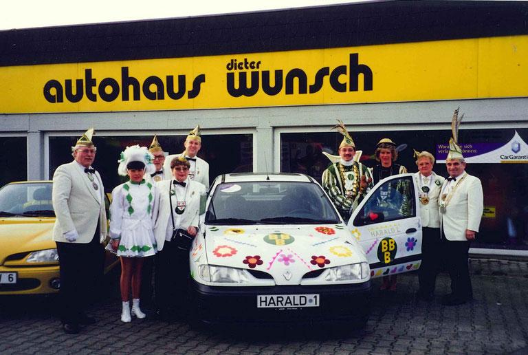 Wagenübergabe im Autohaus Wunsch Januar 1998