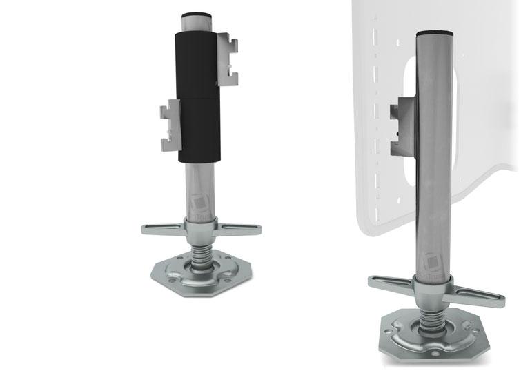 OnTruss Siesta Leg Basic & Siesta Leg Premium - Ansteck-Fuß für Siesta SidePlate mit Aufnahme-Öffnung für Gerüstspindel