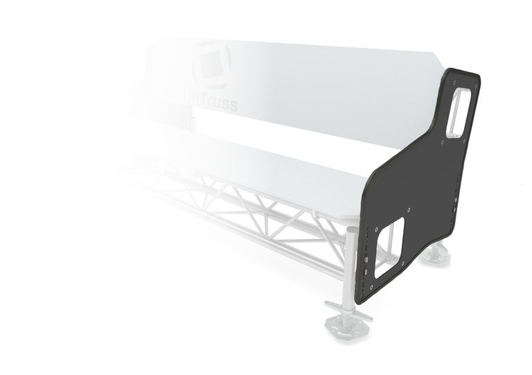 OnTruss Siesta SidePlate 4:4 - Sitzmöbel-Seitenplatte für 4-Punkt-Traversen aller Hersteller