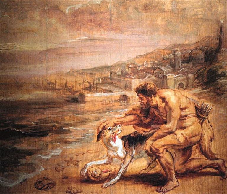 Melqart scopre la porpora, Olio di Rubens (1636)