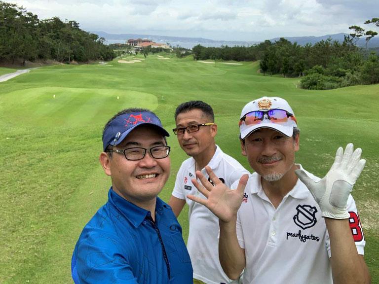 2019年沖縄不動産ツアー 沖縄ゴルフコンペの様子