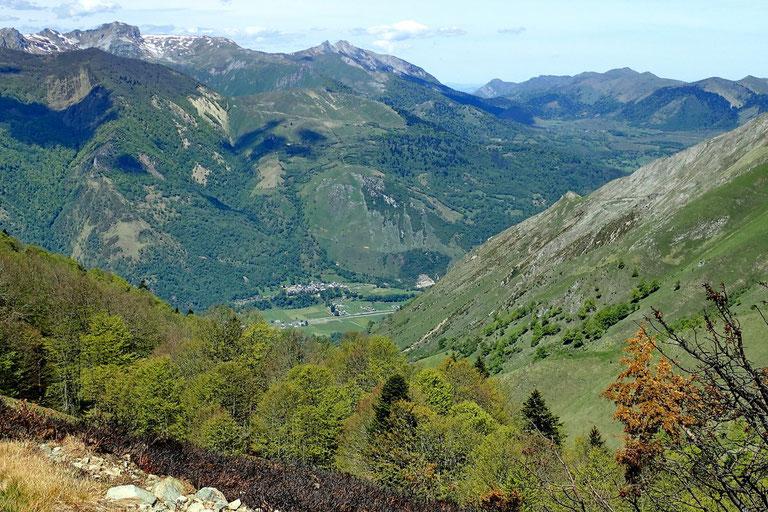 Vue sur la Vallée d'Ossau.