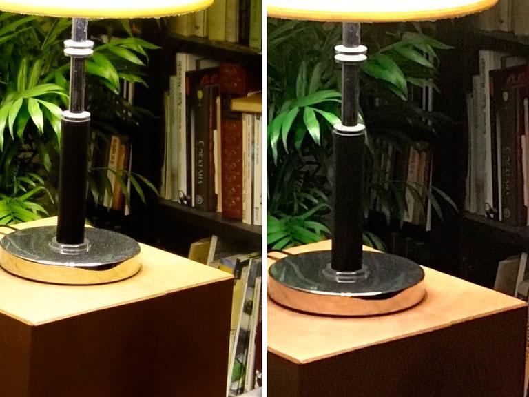 Vergleich in 100%-Ansicht: Kunstlicht-Situation, SONY RX100 versus IPHONE SE, Foto: Klaus Schoerner