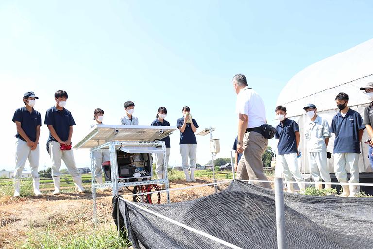 地元高校でのスマート農業出前授業