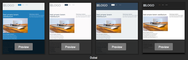 Jimdo template - Dubai variations