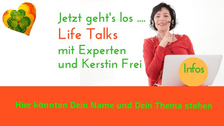Marketing Online Interviews per Video für Promotion. Lebenskunst in der Lebensmitte Kerstin Frei