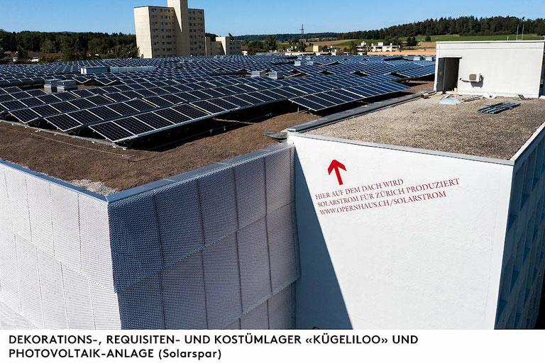 PV-Anlage Opernhaus-Fundus Zürich