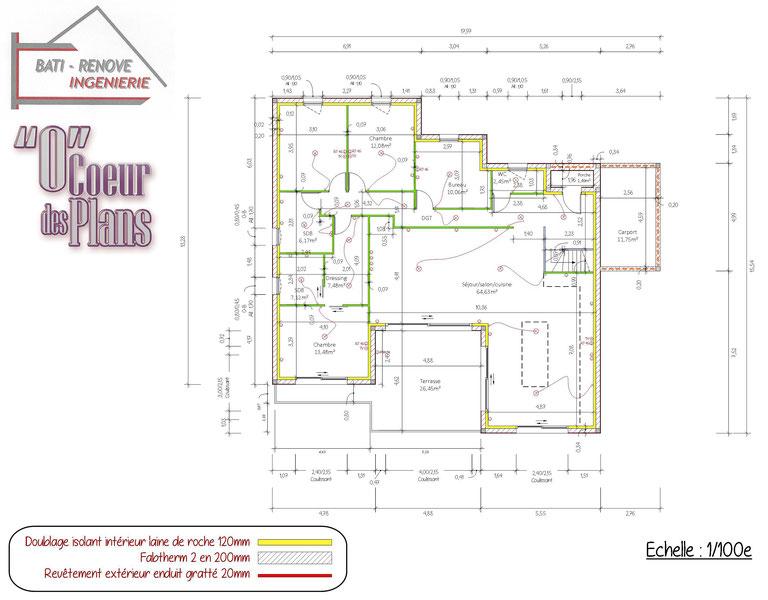 rdc plan de cellule, plan de construction, www.ocoeurdesplans.com