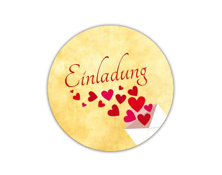 personalisierbare Hochzeitsaufkleber - Liebesbrief mit Herzchen - für Verlobungen, Hochzeiten, Familienfeiern, Gastgeschenke, Einladungen, Dankesbriefe