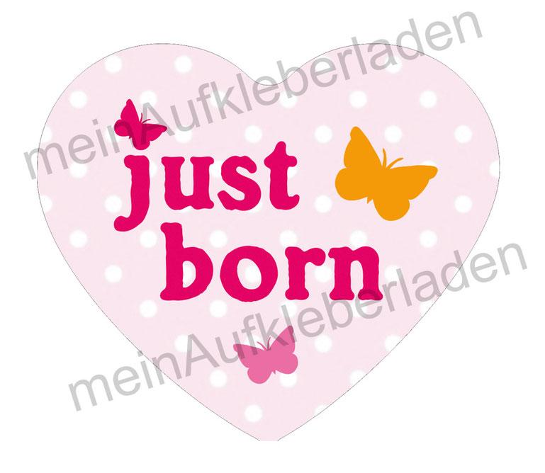 Baby Meilensteinaufkleber - Herzform : just born